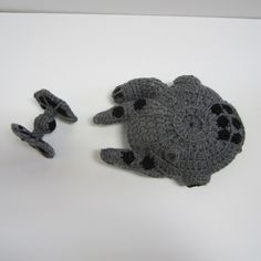 Star Wars Millenium Falcon and Tie Fighter, free crochet patterns on craftyghoul
