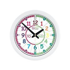 EasyRead Time Teacher Children's Wall Clock, Past & To format with silent Learn