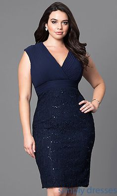 Sequined-Lace Knee-Length Party Dress