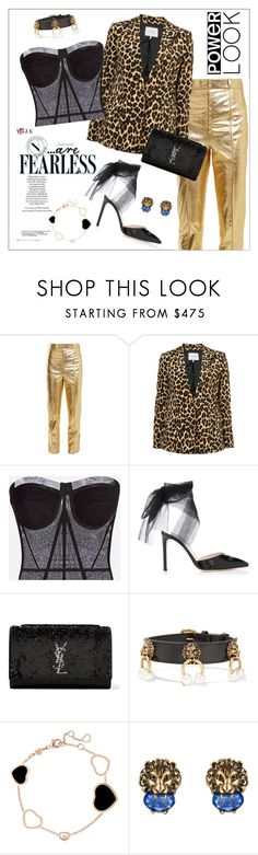 """""""Power Look"""" by frenchfriesblackmg ❤ liked on Polyvore featuring Hillier Bartley, Frame, D&G, Yves Saint Laurent, Gucci and Chopard"""