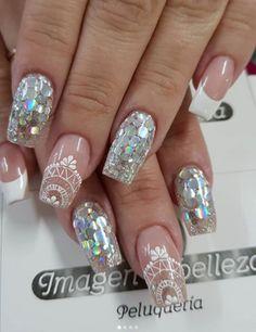 Love Nails, Fun Nails, Nail Art Designs, Nails Design, Beautiful Nail Designs, All That Glitters, Perfect Nails, Manicure And Pedicure, Nail Inspo