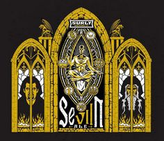 Artwork for Surlys 7th-Anniversary Beer, SevIIn.  Absolutely delicious.