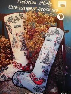 Stoney Creek VICTORIAN HOLLY CHRISTMAS STOCKING Cross Stitch Pattern #StoneyCreekCollection