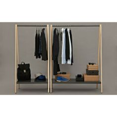 Buy Normann Copenhagen Toj Clothes Rack grey online with Houseology's Price Promise. Full Normann Copenhagen collection with UK & International shipping. Wardrobe Furniture, Clothes Rail, Hanging Clothes, Dress Clothes, Clothes Hanger, Garment Racks, Cheap Apartment, Bohemian Style Bedrooms, Living Room Bedroom