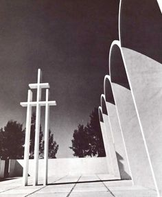 "Arq. Israel Katzman Hanseniasis Church, ""Dr Pedro Lopez"" Hospital, Zoquiapan, Ixtapaluca, State of Mexico, Mexico 1954"