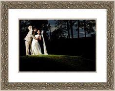 Custom framed wedding photo