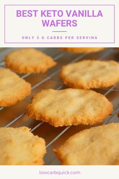 Keto vanilla wafer cookies made easily with only a few ingredients. Even better than the original and healthier! Keto vanilla wafer cookies made easily with only a few ingredients. Even better than the original and healthier! Desserts Keto, Keto Friendly Desserts, Keto Snacks, Keto Cookies, Wafer Cookies, Brownie Cookies, Low Carb Keto, Low Carb Recipes, Galletas Keto