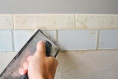 How to install accent tile around existing tile