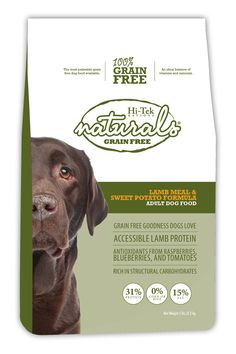 Grain free lamb and sweet potato formula for adult dogs