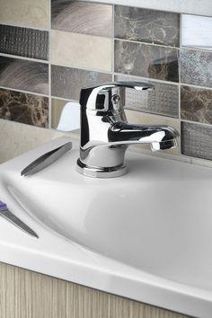 AQUALINE 35 stojánková umyvadlová baterie, bez výpusti, chrom : SAPHO E-shop Water Faucet, Faucets, Sink, Design, Home Decor, Taps, Sink Tops, Griffins, Vessel Sink