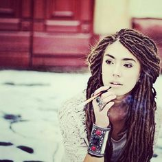 Awesome Style White People And Dreadlock Hairstyles On Pinterest Hairstyles For Women Draintrainus