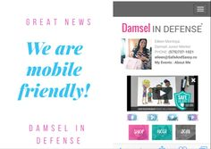 We are mobile friendly now!!!!  Visit my site to see what we offer and to JOIN my awesome team!!!  www.mydamselpro.net/eileenmontoya  Join my fb group Safeandsassy.co to get updates, specials and much more!!