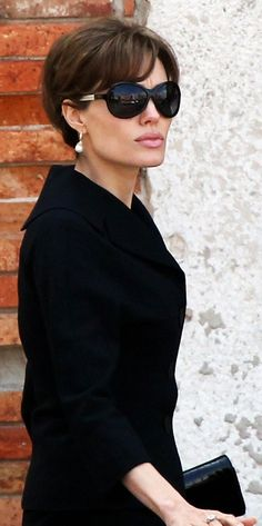 #Stars wearing #glasses! #AngelinaJolie with a #TomDavies #sunglasses.  Glasses…                                                                                                                                                                                 More