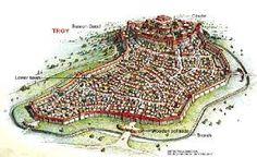 Troya es una ciudad tanto histórica como legendaria. En griego se llamaba Τροία (Troia)  En ella se desarrolló la mítica guerra de Troya. Esta célebre guerra fue descrita, en parte, en la Ilíada, un poema épico de la Antigua Grecia atribuido a Homero.