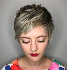 Choppy Side-Swept Pixie
