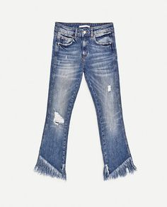 Image 8 of MID-RISE MINI FLARE JEANS from Zara