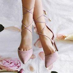 Cross Tied Sweet Heels