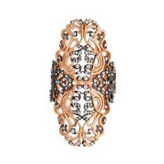 Aida Bergsen 10k Rose Gold Lace Ring