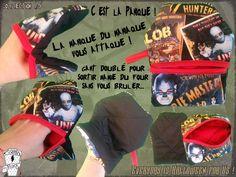 Les maniques du maniaque vont semer la panique !!! Vous venez de cuisiner une tourte avec votre mère-grand, maintenant, il faut la sortir du four...  et bien voilà votre solution ! INFOS:  http://www.coffinrock.com/coffinrock/fr/home/1049-la-manique-panique-tissus-zombies.html