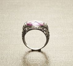 Boho Amethyst Ring  Sterling Silver Ring  Butterfly by KRAMIKE