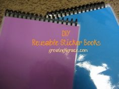 DIY Reusable Sticker books - I'm thinking of making G. one of these for Christmas