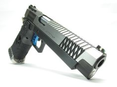 INFINITY 40S&W BLACK CARBON STEEL TWO-TONE WITH DIAMOND SERRATIONS & BUTLER CUT
