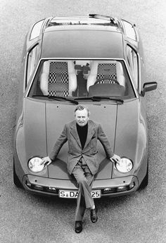 2 legends . . Ferry Porsche . . . 1977 928