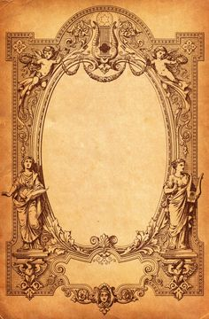 Free Vintage Frame from Old Sheet Music Cover