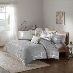Kids Bedroom Sets, Room Ideas Bedroom, Girls Bedroom, Bedroom Decor, King Bedroom, Bedrooms, Bed Bath & Beyond, Intelligent Design, Gray Bed Set