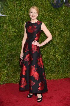 Patricia Clarkson Print Dress - Fashion Lookbook - StyleBistro - Alexander McQueen