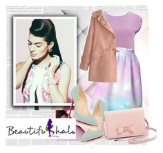 """""""BeautifulHalo"""" by agorai ❤ liked on Polyvore featuring Vero Moda, Christian Louboutin, Ted Baker and beautifulhalo"""