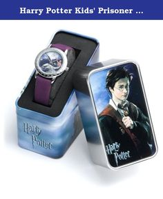"""Harry Potter Kids' Prisoner of Azkaban Edition Collectible Watch. Harry Potter Prisoner of Azkaban """"Buckbeak"""" watch, out of production and rare, collectible, new with warranty and box. Ladies or youth watch depicting Hermione Granger and Harry Potter flying on the back of the hippogryff Buckbeak. Polished silver watch with diamond shapes embossed in bezel. Silver hour, minute and second hands. Dial in hues of violet/blue/pink with slender, purple man-made band. Water resistant. Precision..."""