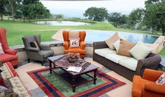 Outside seating area Outdoor Sectional, Sectional Sofa, Outside Seating Area, Outdoor Furniture Sets, Outdoor Decor, Luxury, Home Decor, Modular Couch, Decoration Home