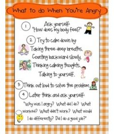 What to Do When You Are Angry Poster