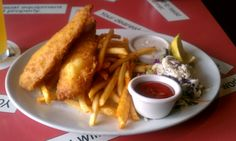 Fish and Chips and Slaw from Alcatraz Brewing Co.