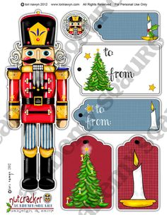 Etsy Academy Square Nutcracker and Gift Tags Sheet 2 by Lori Nawyn