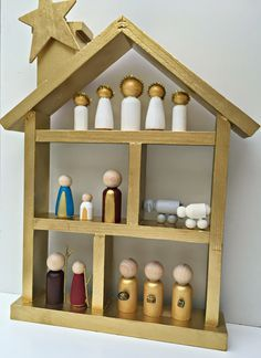 Image result for wooden bead nativity