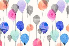 Margaret Berg Art: Balloon+Collage+Surface+Pattern