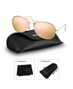 ad7e47862f Unisex Round Aviator Sunglasses-Shades for Women Men by - Shiny Gold+mirror  Pink - CK188T3T2YN