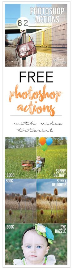 Free Photoshop Actions with Video Tutorial from Twisted Lenz and Shrimp Salad Circus