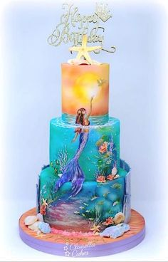 Fantastic Sweets (and How to Find Them) — Cake Wrecks Gorgeous Cakes, Pretty Cakes, Cute Cakes, Amazing Cakes, Mermaid Birthday Cakes, Mermaid Cakes, Crazy Birthday Cakes, Crazy Wedding Cakes, Crazy Cakes