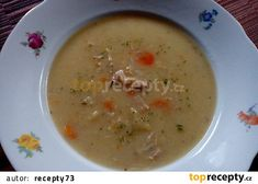 Czech Recipes, Cheeseburger Chowder, Ham, Food And Drink, Soup, Hams, Soups