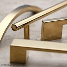 Atlas Homewares Successi Collection in Gold  pulls