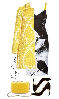 """Spring"" by crisa-gloria-eduardo ❤ liked on Polyvore featuring Prabal Gurung, Nicholas Kirkwood, Anthology, Kayu, yellow, floral, shoes and prints"
