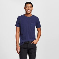 Men's Crew Neck T-Shirt Navy (Blue) Voyage Xxl - Mossimo Supply Co.