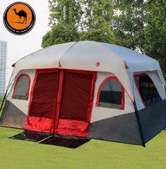 Two Bedroom Ultralarge Person Waterproof Camping Tent Large Gazebo Barraca Tente De Camping Beach Camping, Tent Camping, Camping Hacks, Camping Gear, Beach Trip, Outdoor Camping, Outdoor Travel, Outdoor Gear, Camping Shop