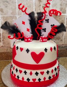 Cake Designs Playing Cards : card party on Pinterest Playing Cards, Casino Cakes and ...