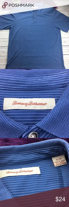 530c727a648e Tommy Bahama blue striped textured polo shirt