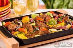 Receita de Salada com fraldinha grelhada - Comida e Receitas