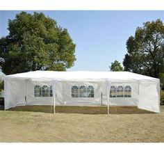 [GBP £103.99]9m x 3m Garden Heavy Duty Gazebo Marquee Party Tent White